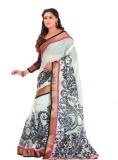 GD Floral Print Fashion Art Silk Saree (...