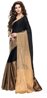 Vivera Fashion Solid Bollywood Cotton Sari