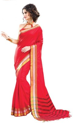 Radhika Creation Plain Chanderi Cotton Sari