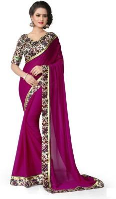 Bollylounge Floral Print Fashion Georgette Sari