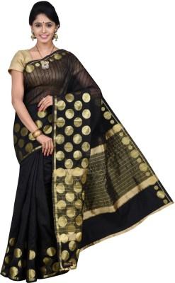Pavechas Polka Print Banarasi Silk Cotton Blend Sari