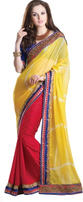 Urjita Creations Self Design Fashion Chiffon, Jacquard Sari