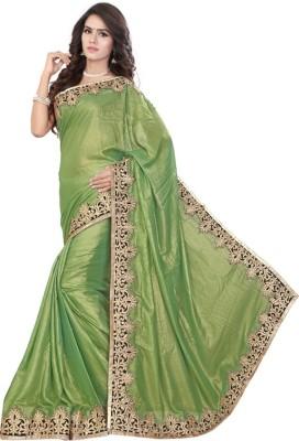 Jhenny Fabrics Embriodered Fashion Handloom Satin Sari