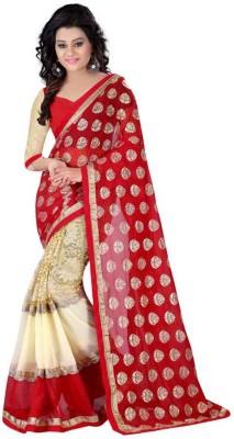 KIRAN Self Design Bollywood Georgette Sari