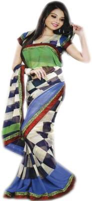 Venilal Printed Fashion Synthetic Fabric Sari