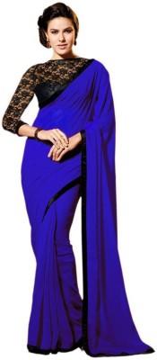 SNV Fashion Solid Fashion Georgette Sari