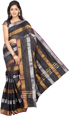Pavechas Striped Banarasi Silk Cotton Blend Sari
