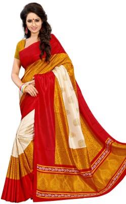 Kjs Printed Bollywood Art Silk Sari
