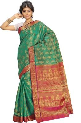 Alankrita Self Design, Printed Kanjivaram Art Silk, Jacquard Sari