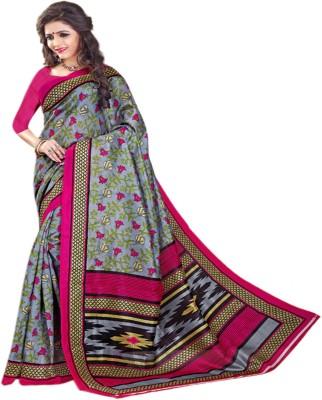 Sonakshi Sarees Floral Print Bhagalpuri Art Silk Sari