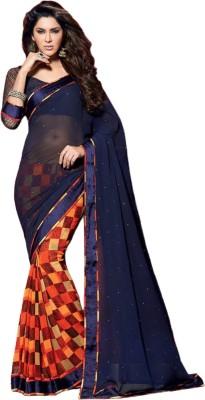 Varni Retail Self Design Bollywood Georgette Sari