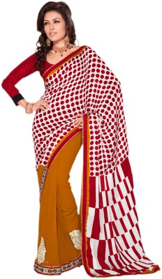 Hypnotex Polka Print Fashion Georgette Sari