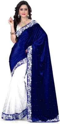 Jhilmil Fashion Embriodered Bollywood Velvet Sari