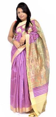 Gulmohaar Embriodered Bollywood Tissue Silk Sari