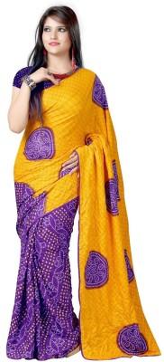 Nyalkaran Printed Bandhani Pure Silk Sari