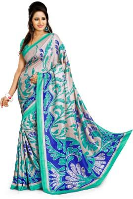 SGM Chevron, Striped, Printed Fashion Art Silk Sari