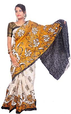 Bengal Loom Floral Print Bollywood Handloom Georgette Sari