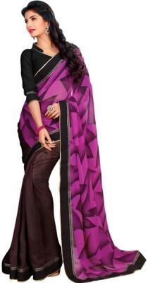 Kintu Designs Pvt. Ltd. Geometric Print Fashion Georgette Sari