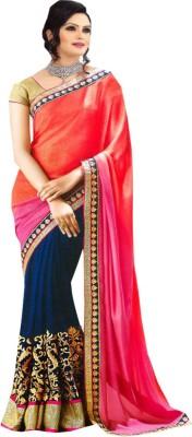 Uttam Sarees Embriodered Fashion Georgette Sari