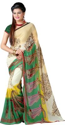 Jagdamba Creation Printed Fashion Georgette Sari