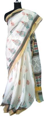 Rujula Hand Painted Fashion Chanderi Sari