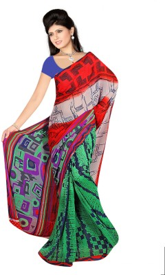 Cutie Pie Printed Daily Wear Georgette Sari