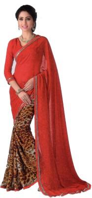 Shilpkar Graphic Print Bollywood Synthetic Chiffon Sari
