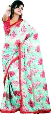 Roop Nikhar Sarees Floral Print Fashion Georgette Sari