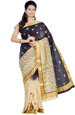 Crochetin Embriodered Fashion Art Silk Sari