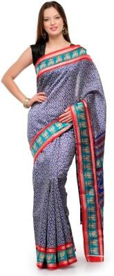 Cenizas Floral Print Fashion Art Silk Sari
