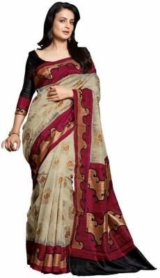 Diaonj Printed Bhagalpuri Silk Sari