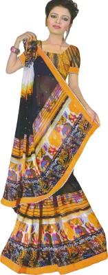 Devaansh Prints Printed, Embellished Fashion Chiffon Sari