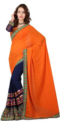 Shree Vallabh Embriodered Bollywood Georgette Sari