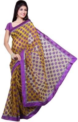 Purple Oyster Paisley Bollywood Jacquard Sari
