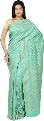 Zain Textiles Woven Banarasi Crepe Sari