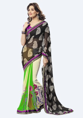 Sanjewga Collection Floral Print Bollywood Chiffon Sari