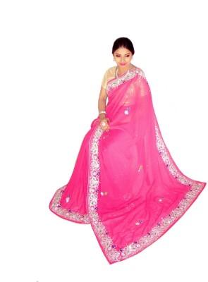 Home Design Embriodered Fashion Handloom Chiffon Sari
