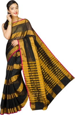 Pavechas Striped Banarasi Cotton, Silk Sari