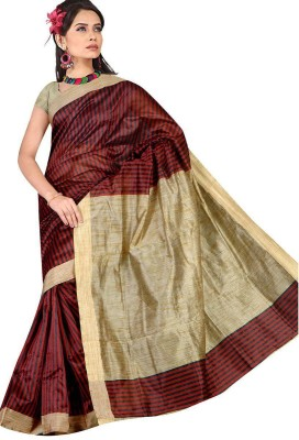 Fashions123* Striped Bollywood Cotton Sari