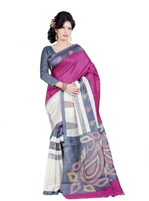 Siddharth Printed Bhagalpuri Handloom Art Silk Sari