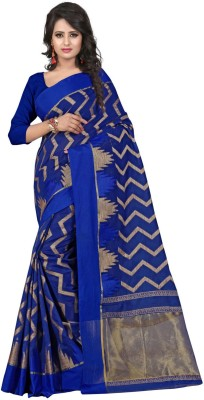 Clothvilla Chevron Banarasi Cotton Sari