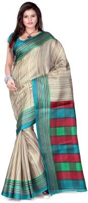 Cenizas Striped Fashion Art Silk Sari