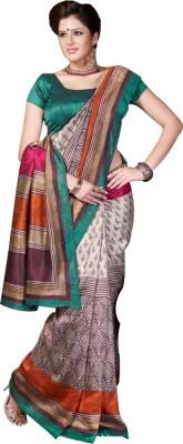Nistulaa Striped Bhagalpuri Handloom Silk Sari