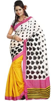 K D Collection Printed Daily Wear Art Silk Sari
