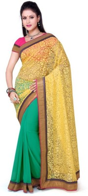 Foram Floral Print Daily Wear Handloom Brasso Sari