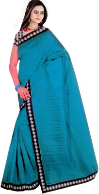 Swaman Plain Bhagalpuri Silk Cotton Blend Sari