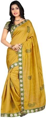 Ethnic Era Solid Fashion Cotton Sari