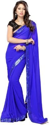 Bano Tradelink Self Design Fashion Chiffon Sari