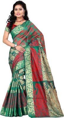 Makeway Woven Bollywood Handloom Art Silk Sari