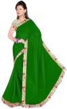 Raag Solid Bollywood Chiffon Saree (Gree...